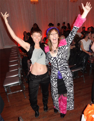 With Jiz Lee at the Feminist Porn Awards 2014. The full horror of the muppet outfit.